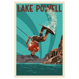 Lake Powell Wakeboarder Lantern Press Postcard