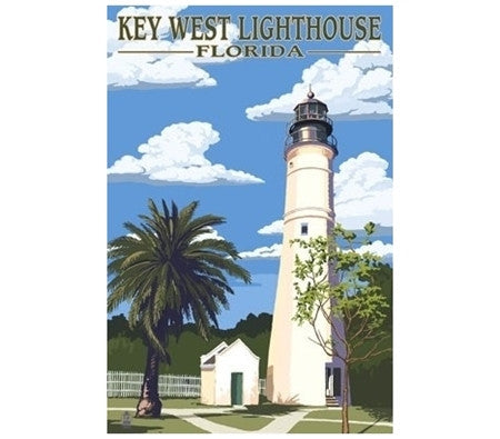 Key West, Florida Lighthouse - Lantern Press Postcard