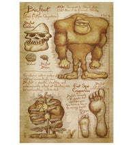 Da Vinci Bigfoot Lantern Press Postcard