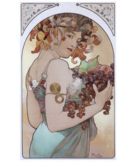 Mucha Woman with Fruit Lantern Press Postcard