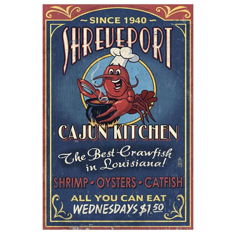 Shreveport Cajun Kitchen Lantern Press postcard