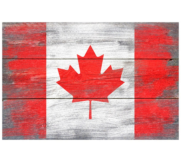 Rustic Flag CANADA Lantern Press Postcard