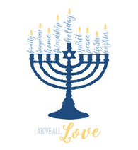 Hanukkah Menorah Lantern Press Postcard