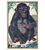 Primate Portrait Lantern Press Postcard