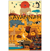 Savannah Animals Geometric Lantern Press Postcard