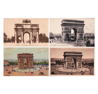 4 L'Arc de Triomphe cartes postale antique French postcards from Paris