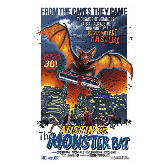 Austin vs. the Monster Bat Lantern Press Postcard