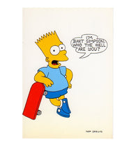 Who the Hell are You Matt Groening Bart Simpson Cartoon Postcard