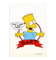 Don't Have a Cow Matt Groening Bart Simpson Cartoon Postcard