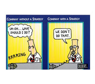 Company with a Strategy Scott Adams Dilbert Comic Postcard