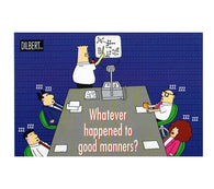 Whatever Happened to Good Manners Scott Adams Dilbert Comic Postcard