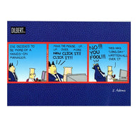Hands-On Manager Scott Adams Dilbert Comic Postcard