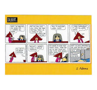 Backup Material Scott Adams Dilbert Comic Postcard