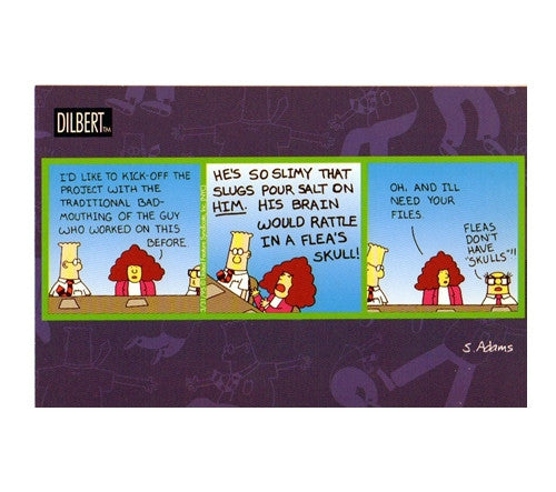 Bad-Mouthing the Guy Who Worked on this Before Scott Adams Dilbert Comic Postcard