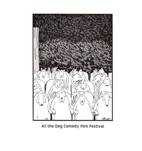 Dog Comedy Film Festival Gary Larson Far Side Comic Postcard