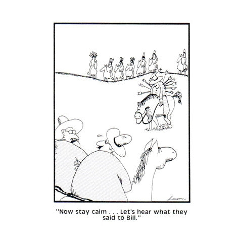 Cowboys and Indians Gary Larson Far Side Comic Postcard