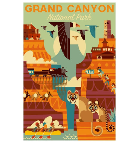 Grand Canyon  Geometric Lantern Press Postcard