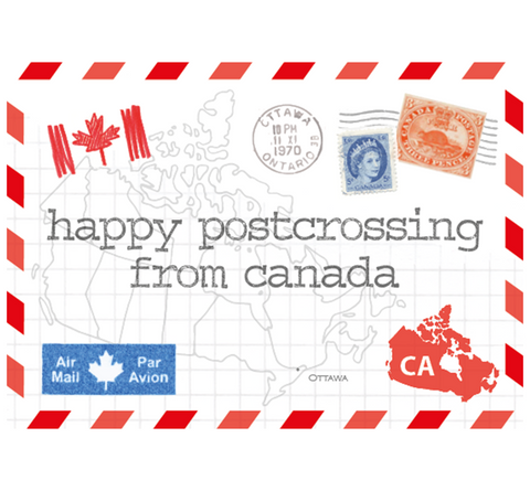 Paper Sisters Happy Postcrossing from Canada