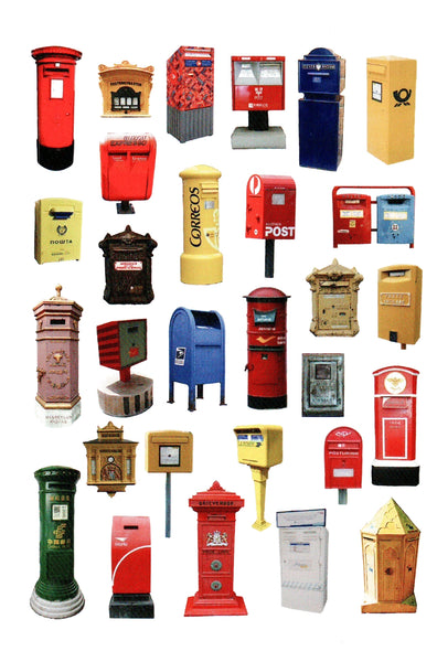 Postboxes Multiples Postcard