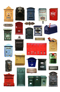 Letterboxes Multiples Postcard