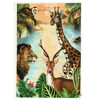 Glittery Tausendschoen Editions Safari Animals Postcard