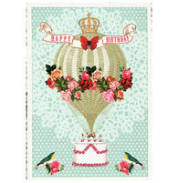 Glittery Tausendschoen Editions Birthday Balloon Postcard
