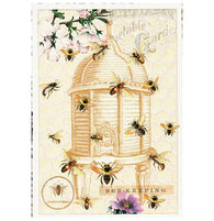 Glittery Tausendschoen Editions Bees Postcard