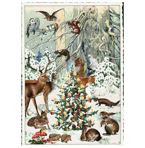 Glittery Tausendschoen Editions Forest Animals Postcard