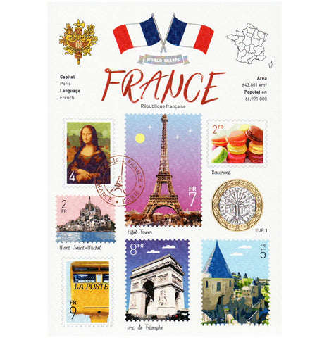 World Travel France (WT) Postcard