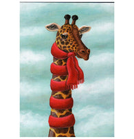 Holtfreter Giraffe with Scarf Inkognito Postcard