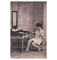 The LOVE LETTER classic Edwardian boudoir antique french postcard carte postale unwritten blank