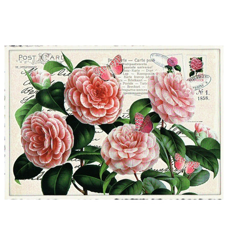 Glittery Tausendschoen Editions Roses Postcard