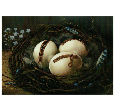 Visser Zippered Eggs Inkognito Postcard