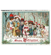 Glittery Tausendschoen Editions Christmas Dogs Postcard