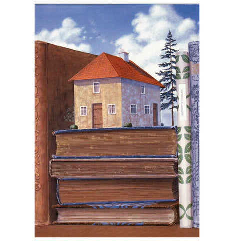 Katsuhisa House on Books Inkognito Postcard