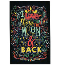 Quote I Love You to the Moon and Back Lantern Press Postcard