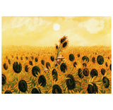 Gluck Vincent Van Gogh and Sunflowers Inkognito Postcard