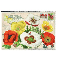 Glittery Tausendschoen Editions Poppies Postcard