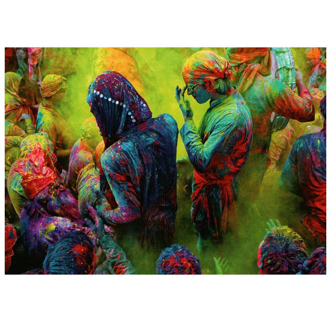 India Festival of Color (Holi) Tushita Postcard