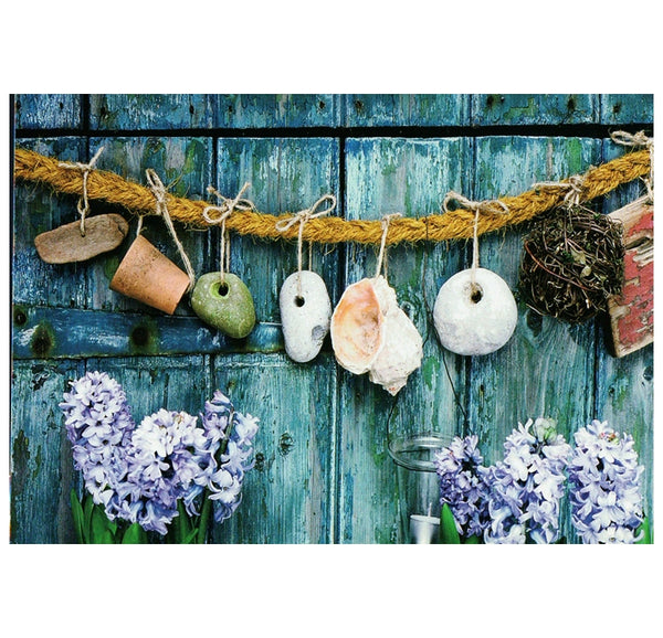 Beach Finds and Hyacinth Tushita Postcard