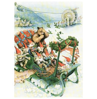Inge Look Sleigh with Gnomes Postcard