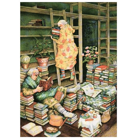 Inge Look Aunties Bookshelf Postcard