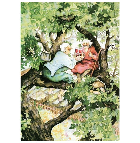 Inge Look Aunties Wine in Tree Postcard