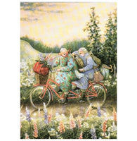 Inge Look Aunties Bicycle Postcard