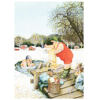 Inge Look Aunties Ice Swimming Postcard
