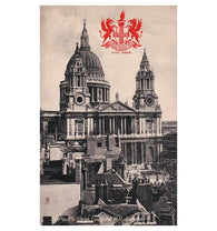 Antique Tuck's postcard  #2173 Heraldic View St. Pauls London