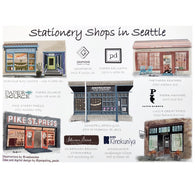 Stationery Shops of Seattle Postcard