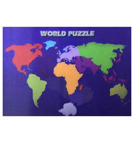 Lenticular World Puzzle Map 3-D Postcard
