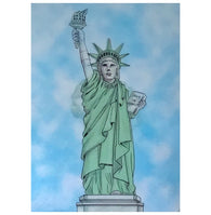 Lenticular Statue of Liberty 3-D Postcard