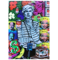 Lenticular Andy Warhol Pop Art 3-D Postcard